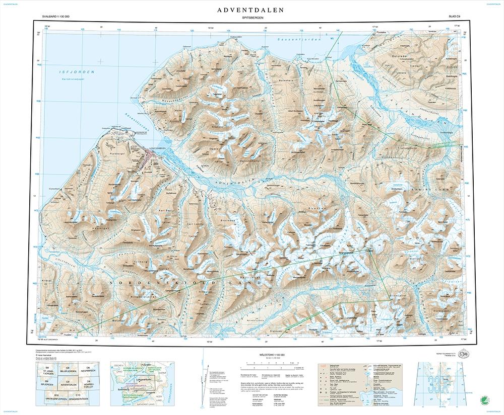 Cartes de randonnée Spitzberg