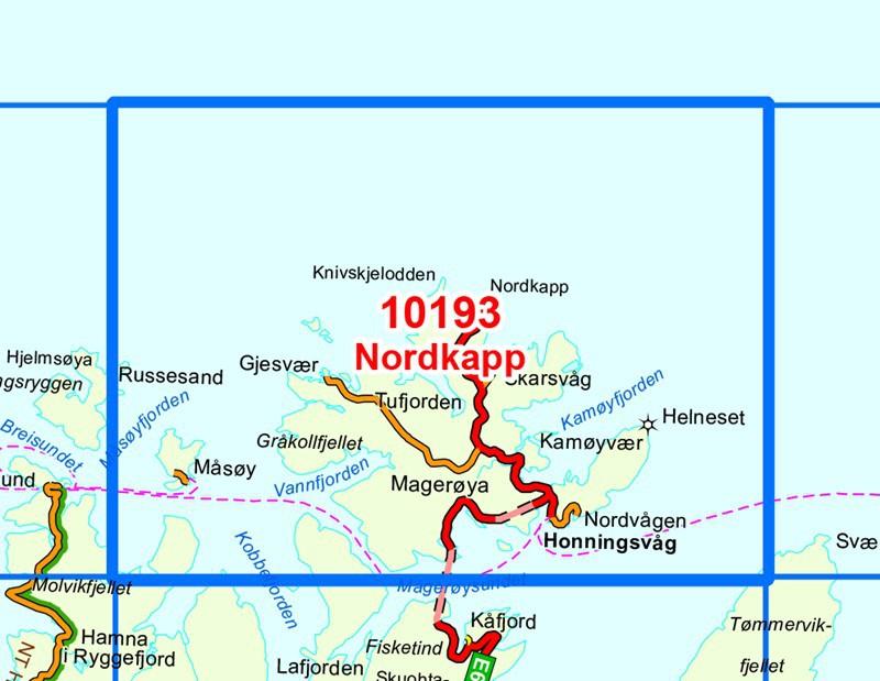 Carte Norvege Cap Nord.Cap Nord Nordkapp