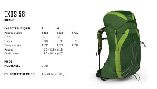 4d19d82b82 Sac à dos léger et confortable Osprey Exos 58 - Randonnée & Trekking ...