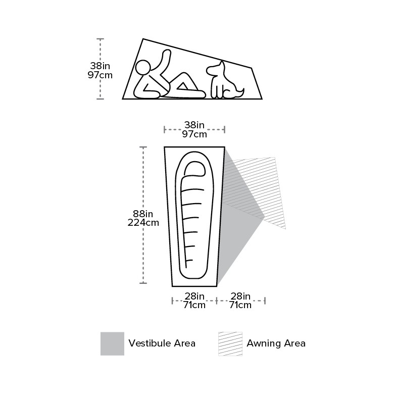 Big Agnes Inc Big Agnes mtnGLO Copper Spur UL 1 Personne Tente HV Gris