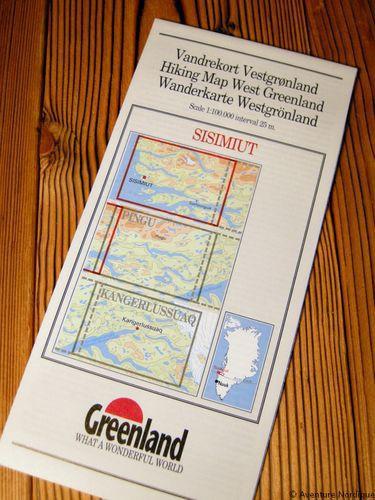 N° 10 - Sisimiut – Groenland Ouest – Carte de randonnée - 1 :100 000