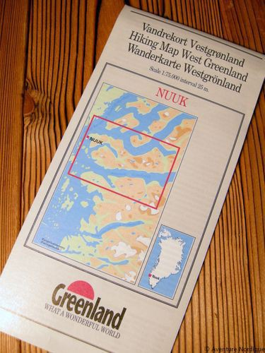 N° 11 - Nuuk – Groenland Ouest – Carte de randonnée - 1 :75 000