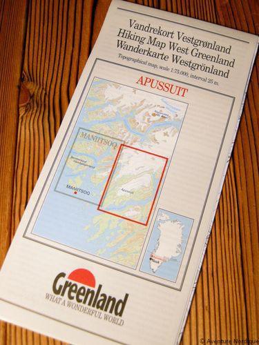 N° 13 - Apussuit – Groenland Ouest – Carte de randonnée - 1 :75 000