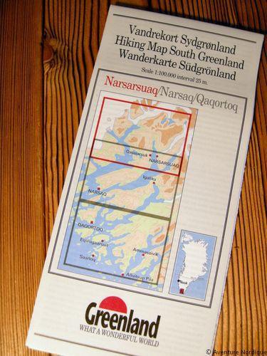 N° 1 - Narsarsuaq – Groenland Sud – Carte de randonnée - 1 :100 000