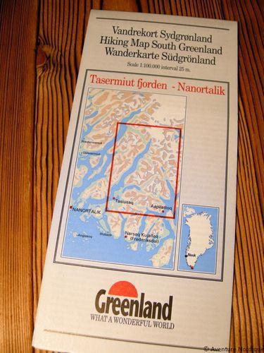 N° 5 - Tasermiut fjorden/Nanortalik – Groenland Sud – Carte de randonnée - 1 :100 000