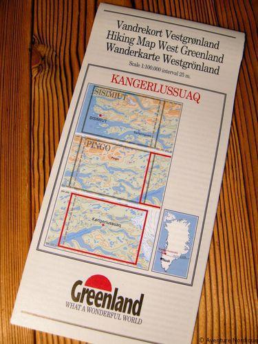 N° 8 – Kangerlussuaq – Groenland Ouest – Carte de randonnée - 1 :100 000