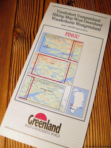 N° 9 - Pingu – Groenland Ouest – Carte de randonnée - 1 :100 000