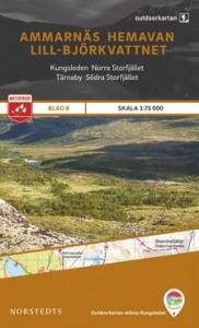 Ammarnäs-Hemavan-Lill-Björkvattnet 1:75 000