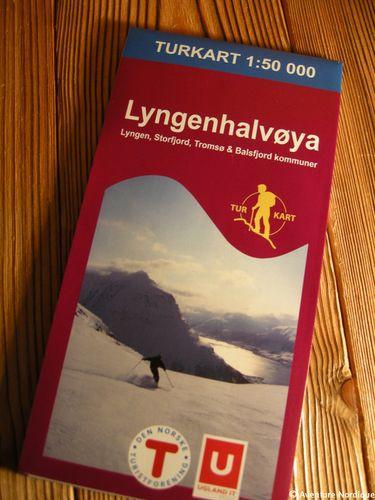 Lyngenhalvøya - 1:50 000 : carte de randonnée Turkart n°2625