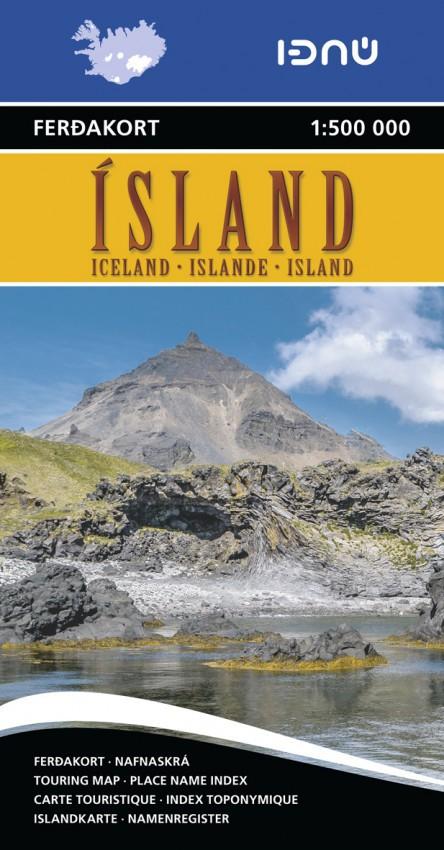 Carte touristique Islande 1:500 000 Ferdakort