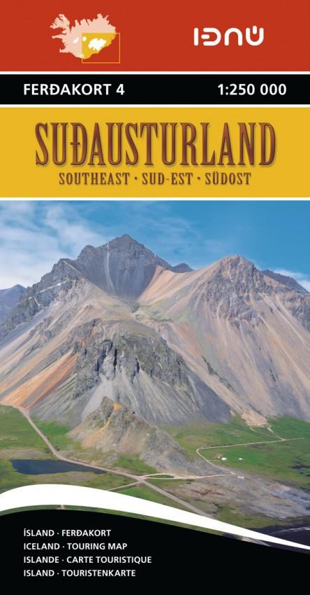 Ferdakort 4 Sudausturland 1:250 000