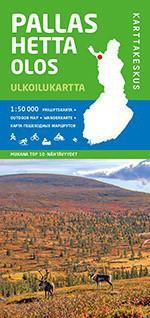 Pallas Hetta Olos, Outdoor Map 1:50 000, 2014