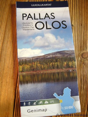 Carte de randonnée Pallas-Olos