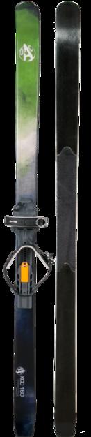 Skis OAC XCD 160 + fixations EA