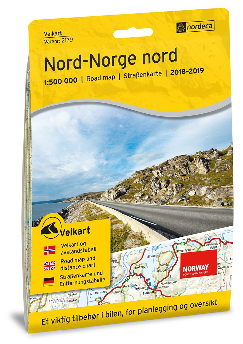 Nordeca Veikart Nord-Norge Nord