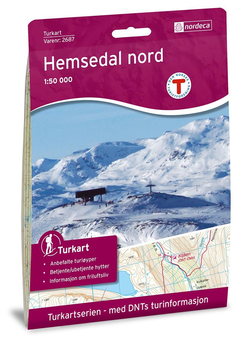 Carte de Norvège : Hemsedal Nord 1:50 000