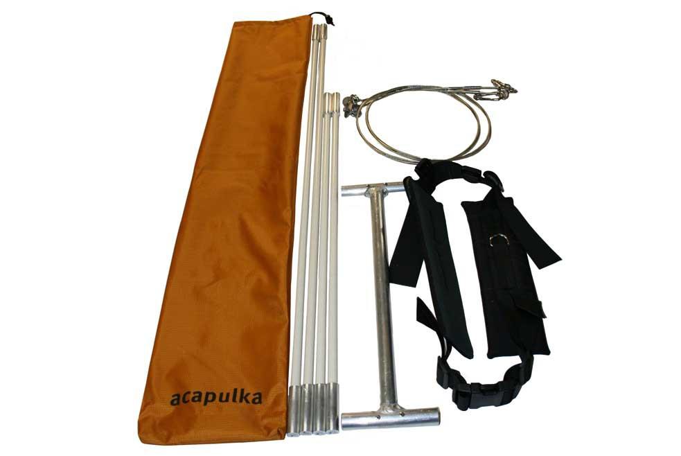 Système de traction Acapulka Glideboard Set - Brancard