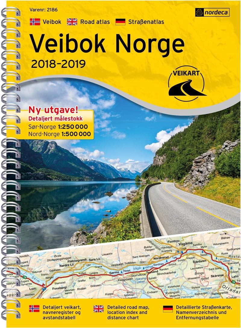 Atlas routier Norvège Veibok Norge 1:250 000/1:500 000