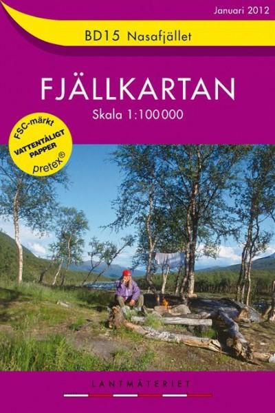 BD15 Nasafjället Fjällkarta