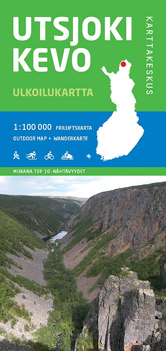 Utsjoki-Kevo 1:100 000, Outdoor Map