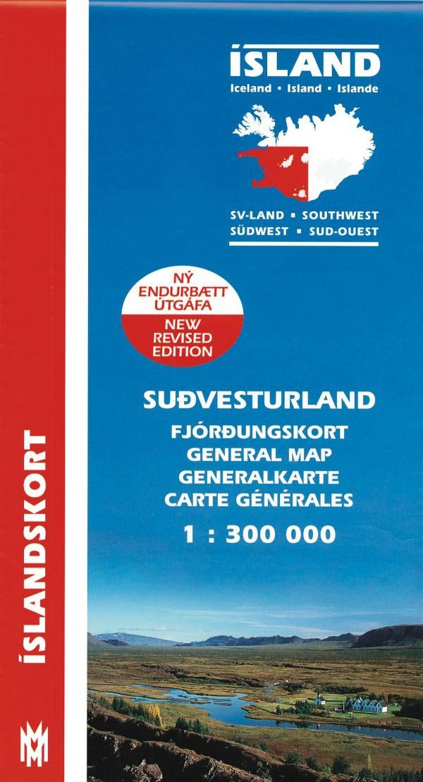 Suð-Vesturland 1:300 000