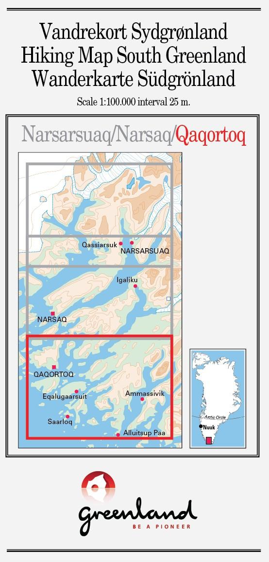 N° 3 - Qaqortoq – Groenland Sud – Carte de randonnée - 1 :100 000