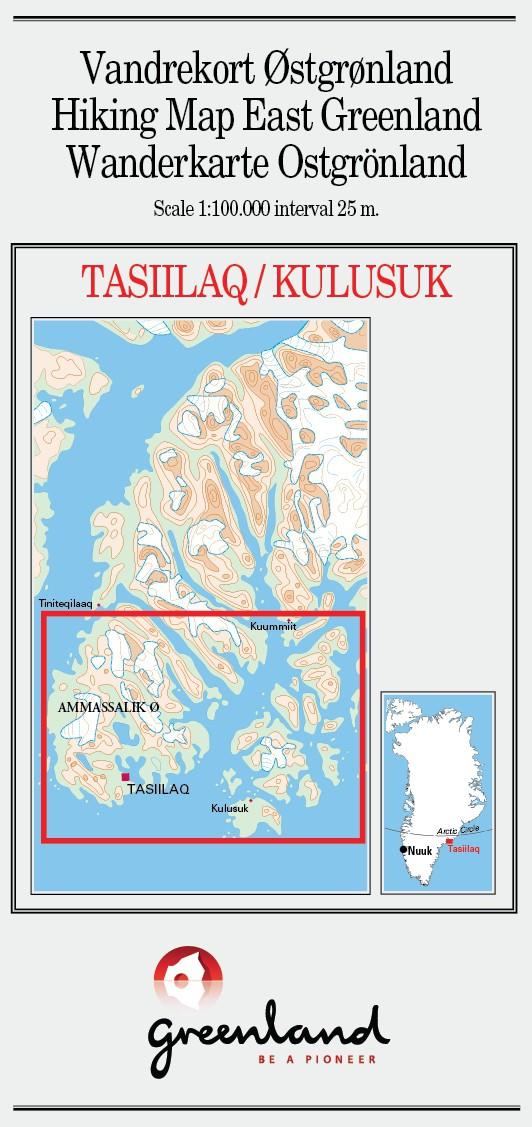 N° 6 - Tasiilaq/Kulusuk – Groenland Est – Carte de randonnée - 1 :100 000