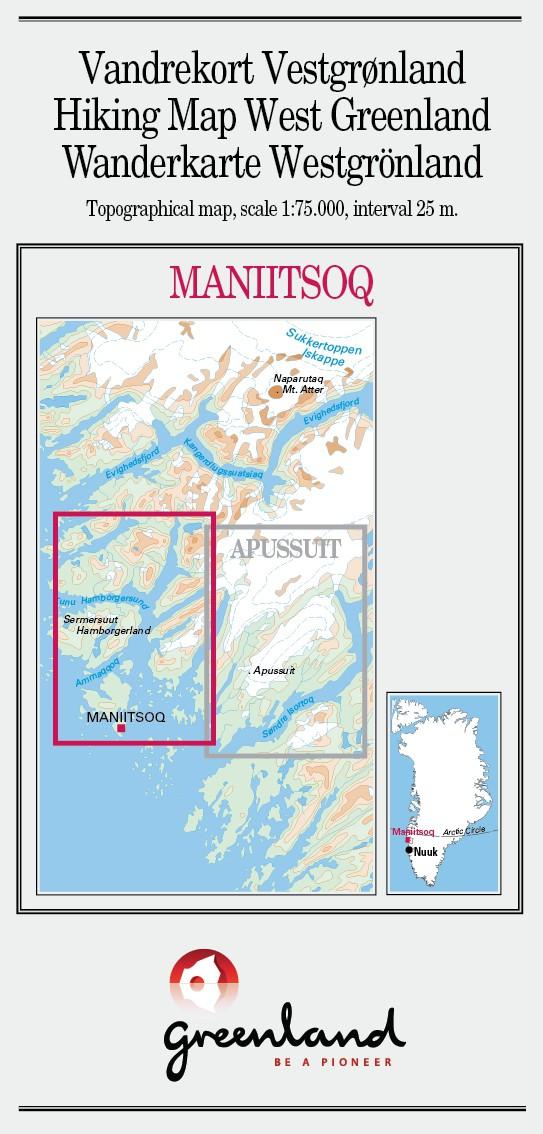 N° 14 - Maniitsoq – Groenland Ouest – Carte de randonnée - 1 :75 000