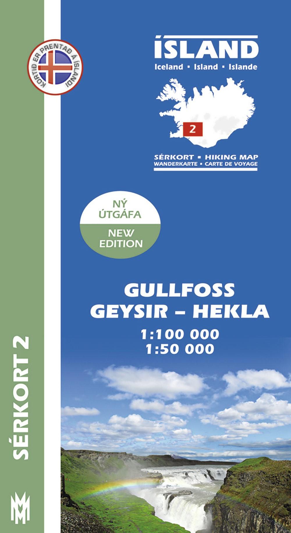 Gullfoss, Geysir, Hekla 1:100 000 – Sérkort 2