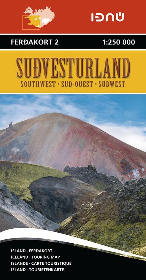 Ferdakort 2 Sudvesturland 1:250 000