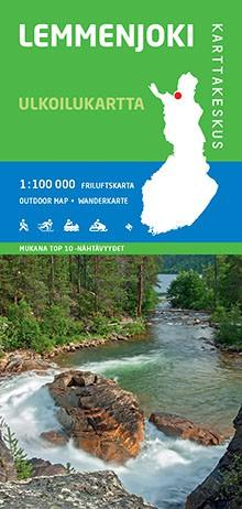 Lemmenjoki 1:100 000, Outdoor Map