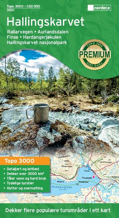 Hallingskarvet nasjonalpark 1:50 000