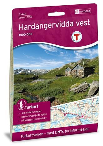 Hardangervidda Vest 1:100 000