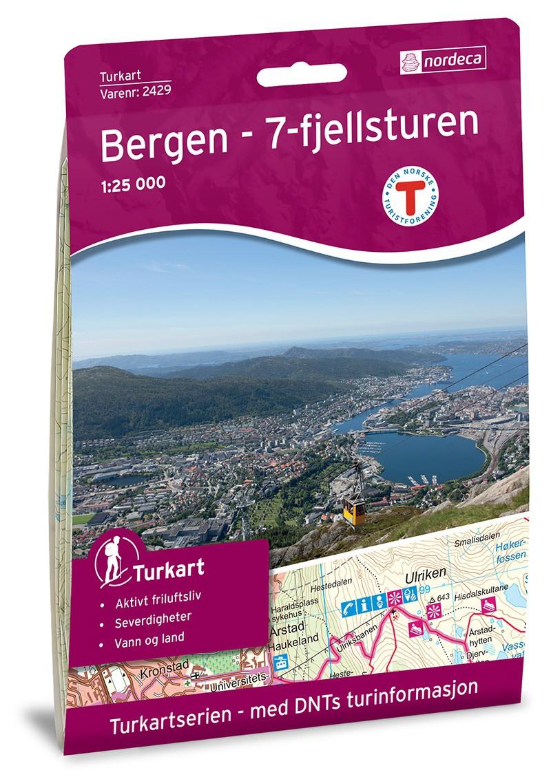 Bergen - 7-Fjellsturen 1:25 000