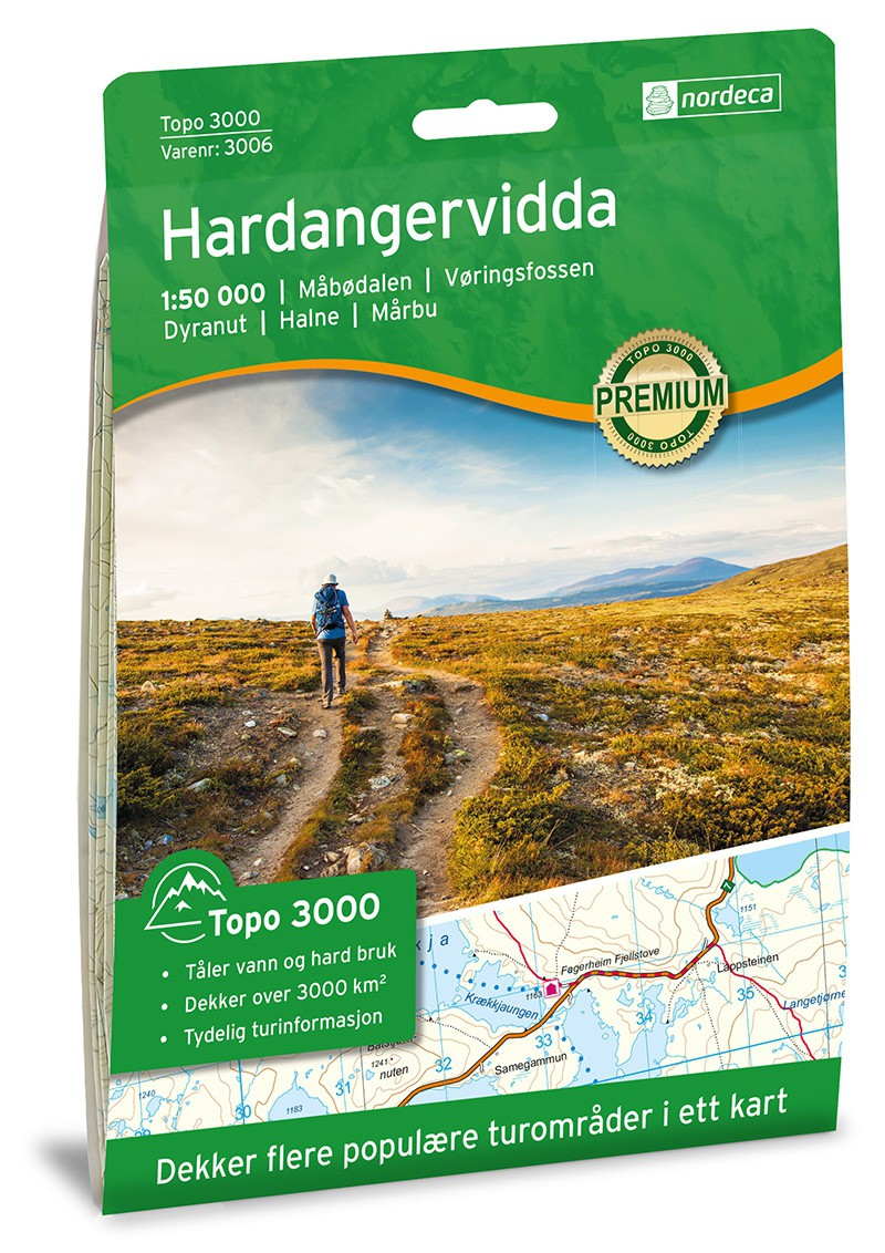 Hardangervidda 1:50 000
