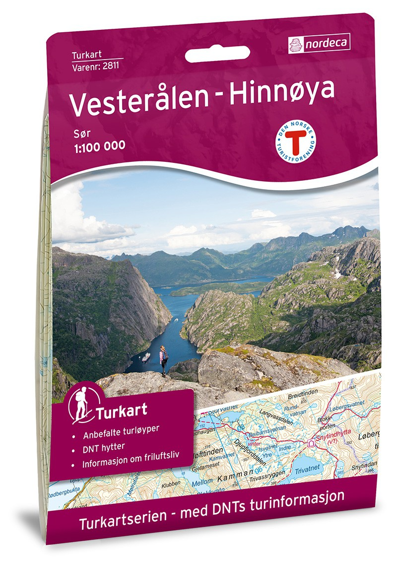 Carte des Vesteralen - Norvège
