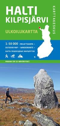Carte Halti-Kilpisjärvi - Finlande