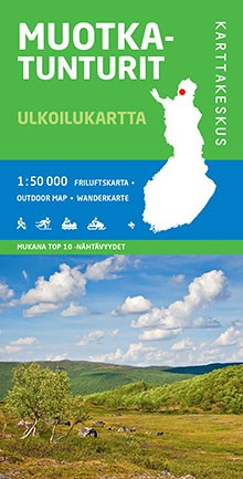 Carte Muotkatunturit Finlande