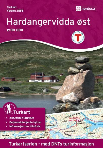 Hardangervidda Øst 1:100 000