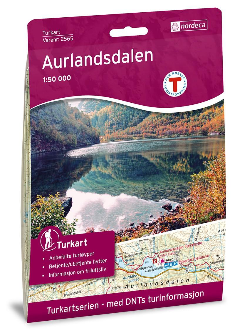 Carte de randonnée Aurlandsdalen 1:50 000 - Norvège