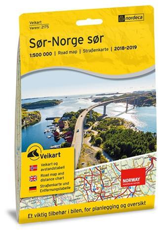 Carte routière Norvège du Sud