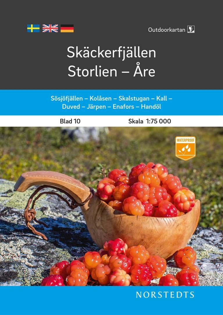 Skäckerfjällen – Storlien - Åre 1:75 000 Blad 10