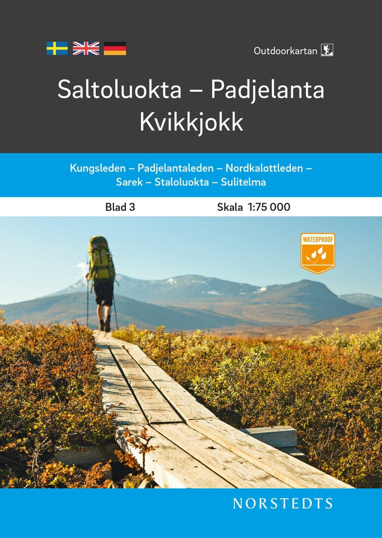 Saltoluokta-Padjelanta-Kvikkjokk 1:75 000