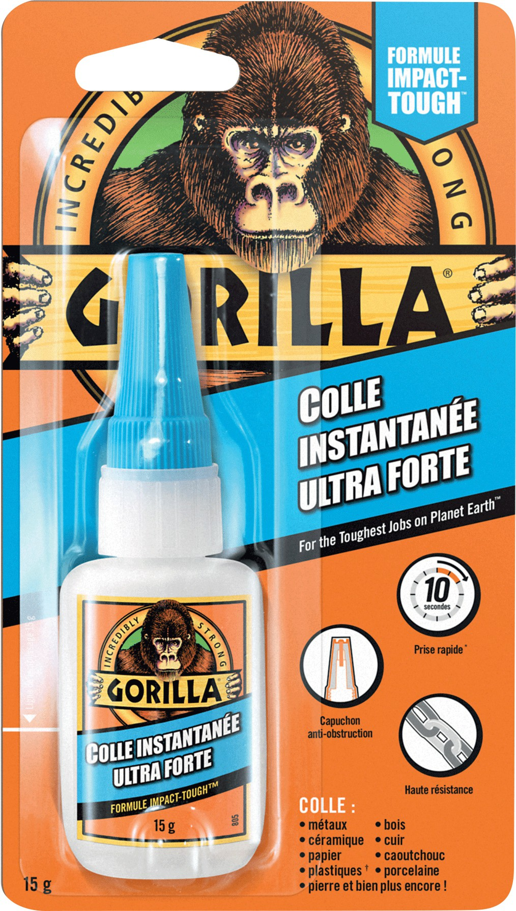 Colle ultra forte instantanée Gorilla Super Glue