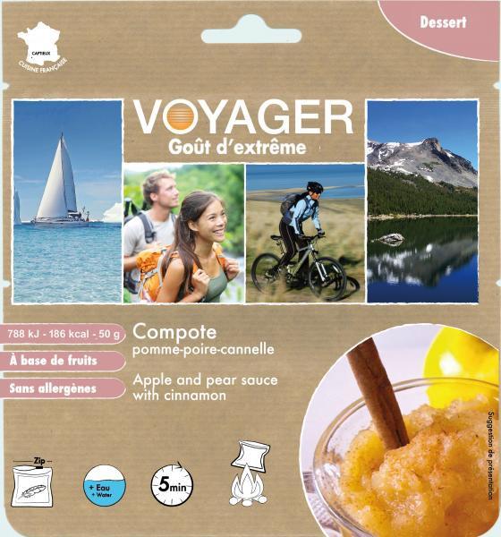 Compote de pomme poire à la cannelle - Voyager