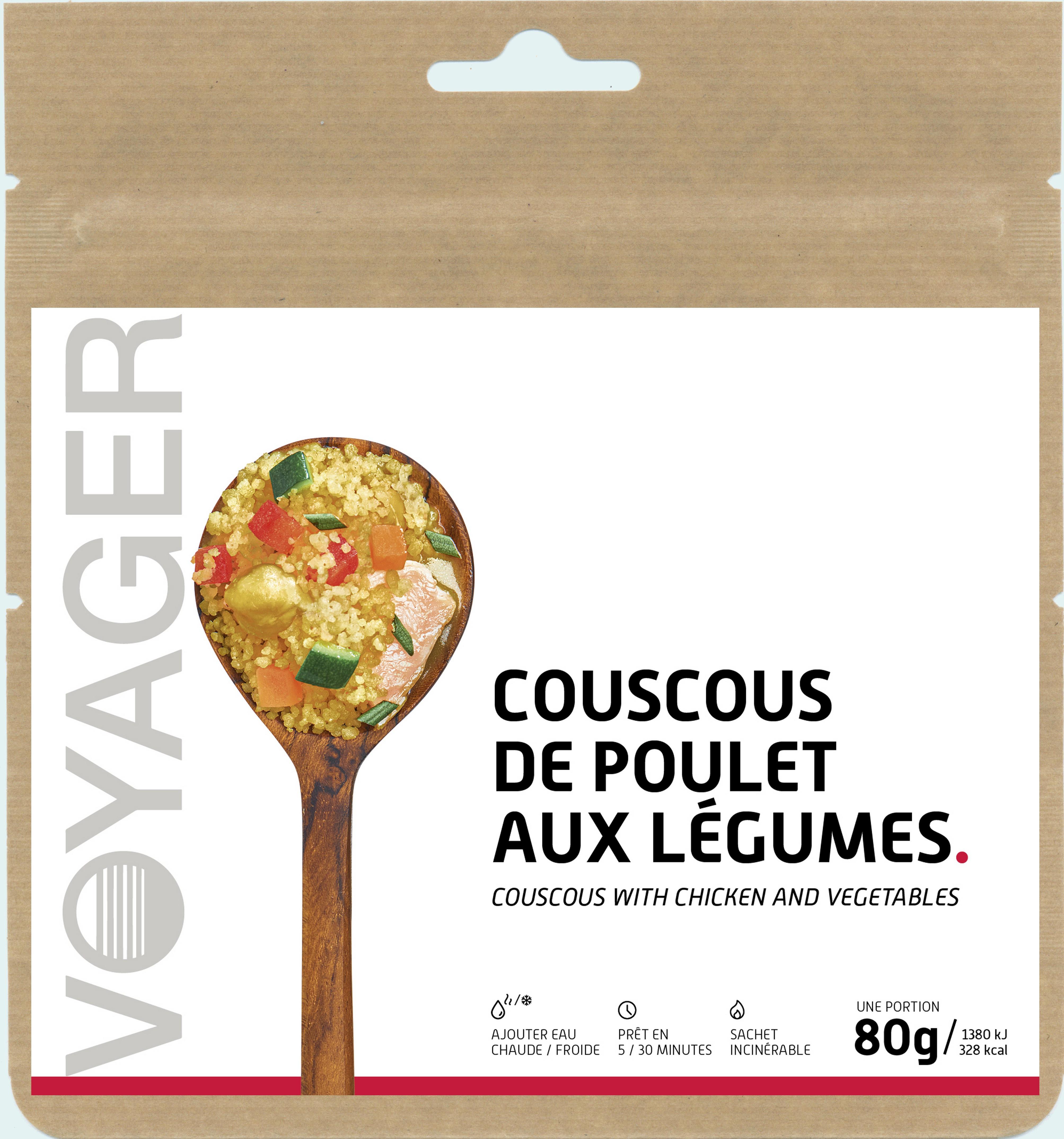 Couscous de poulet aux légumes - Voyager