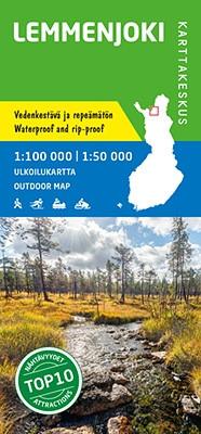 Lemmenjoki 1:100 000/1:50 000, Waterproof Outdoor Map