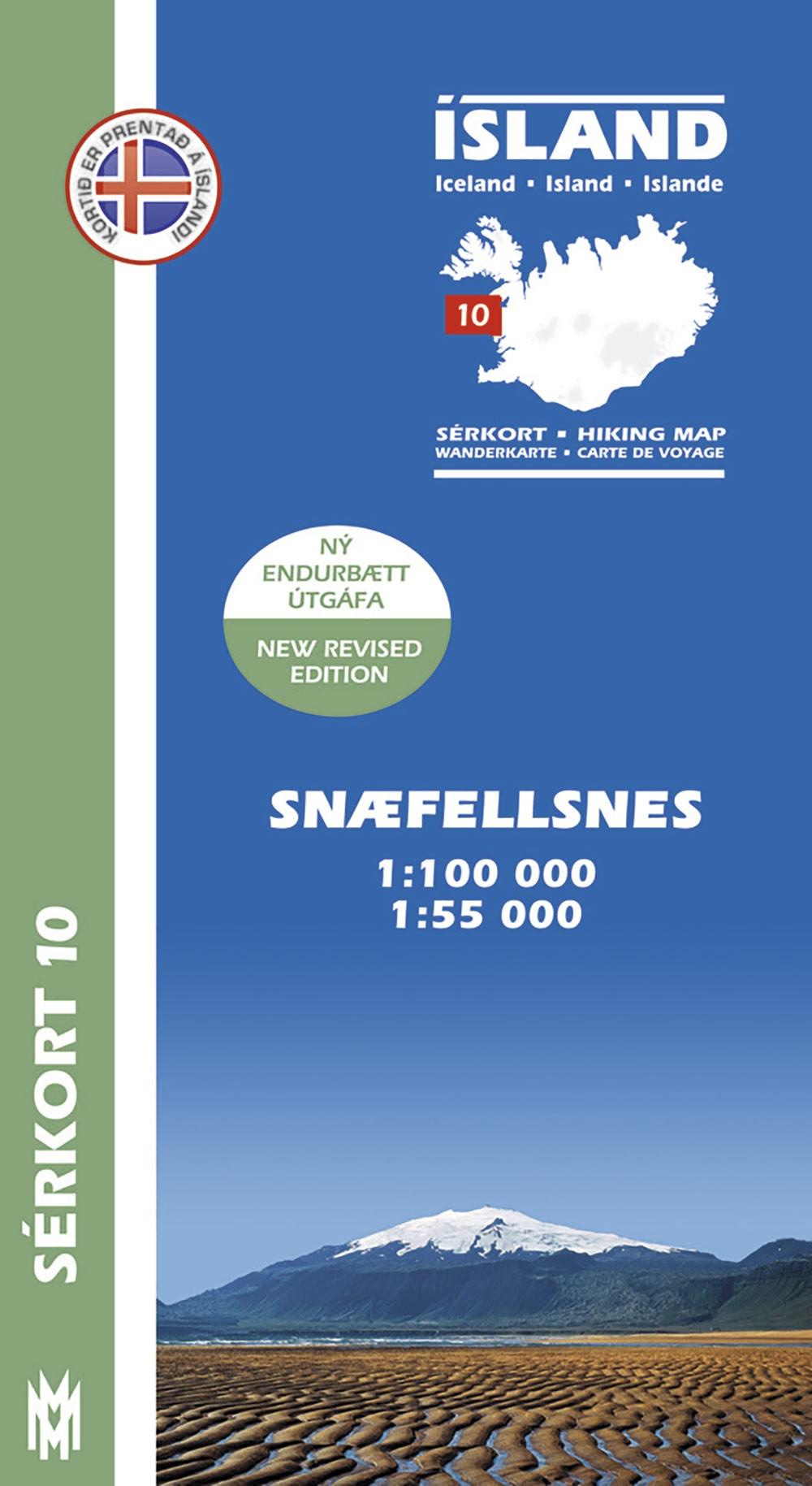 Snæfellsnes 1:100 000 – Sérkort 10