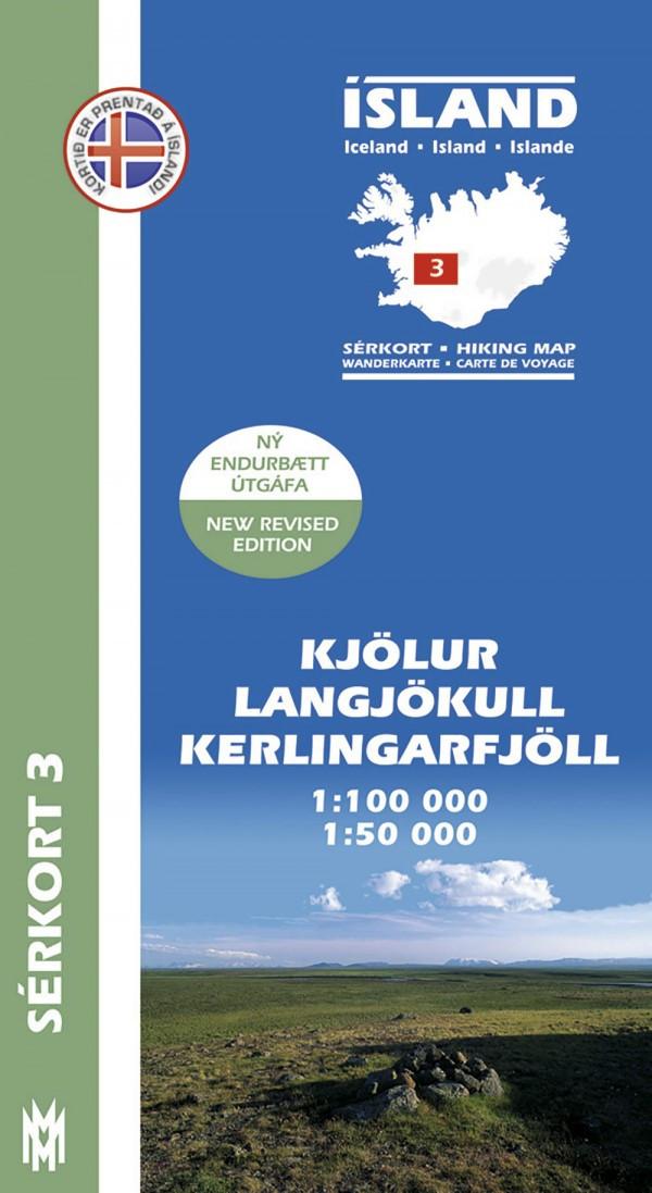 Kjölur, Langjökull, Kerlingarfjöll 1:100 000 – Sérkort 3