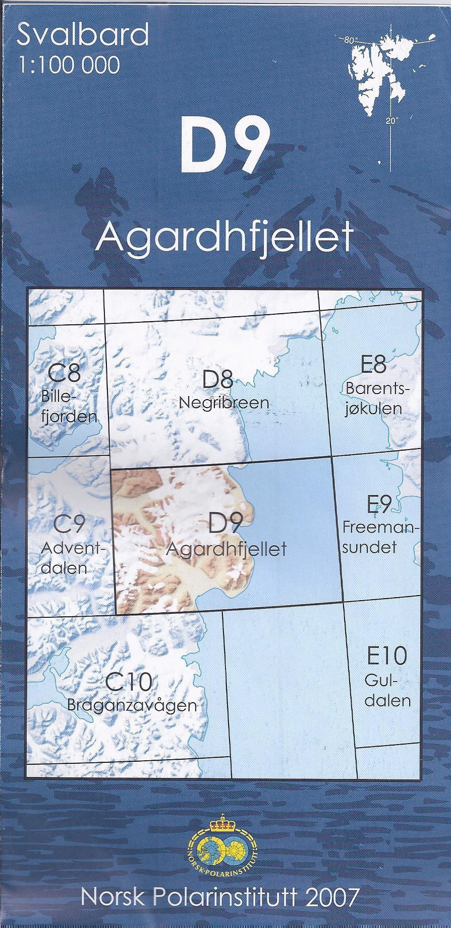 D9 Agardhfjellet 1:100 000